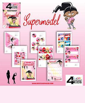 Supermodel - Feestpakket - Bootcamp4kids overzicht